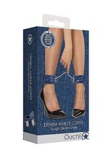 Ouch! Ouch! Denim Ankle Cuffs - Roughend Denim Style - Blue
