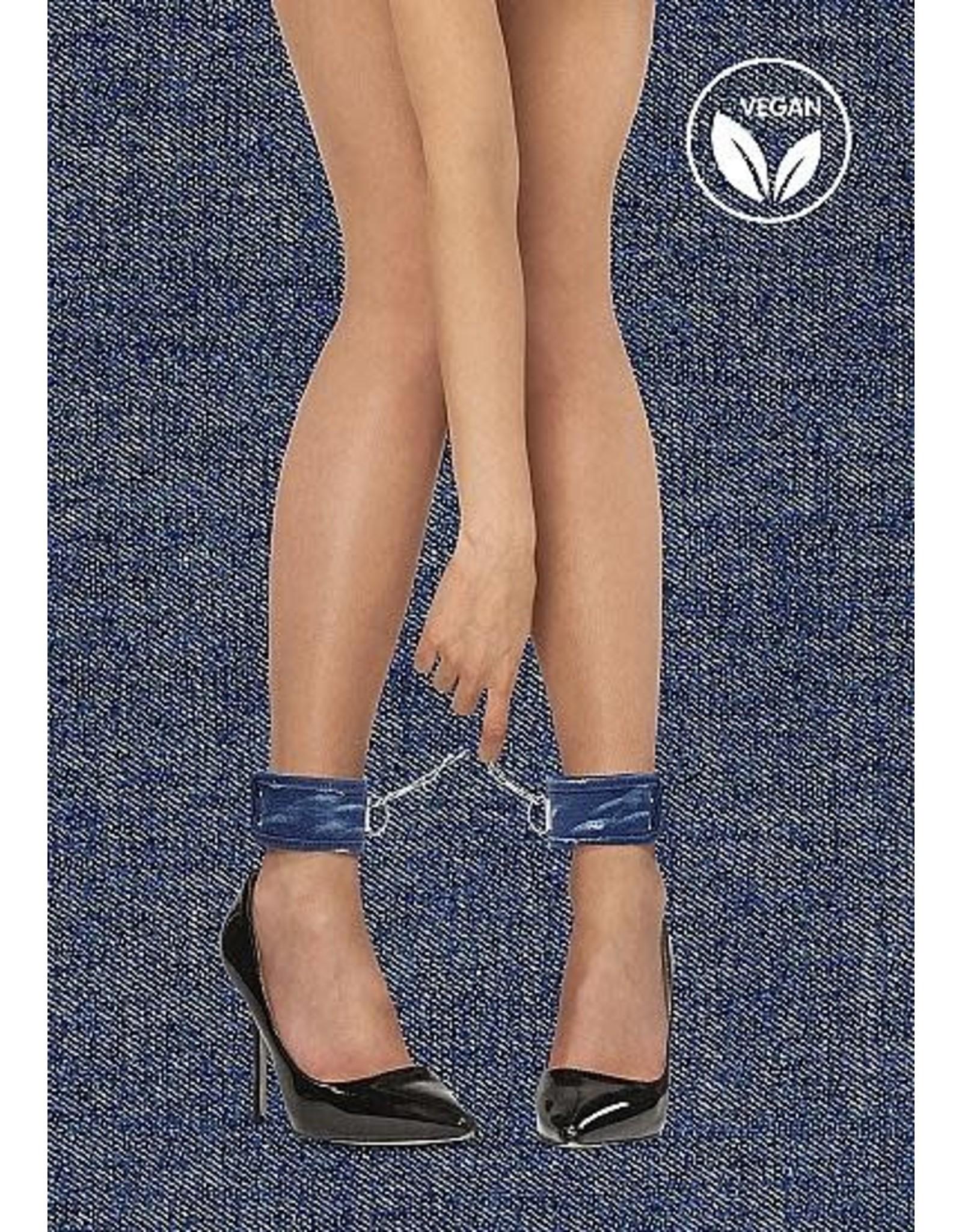 Ouch! Denim Ankle Cuffs - Roughend Denim Style - Blue