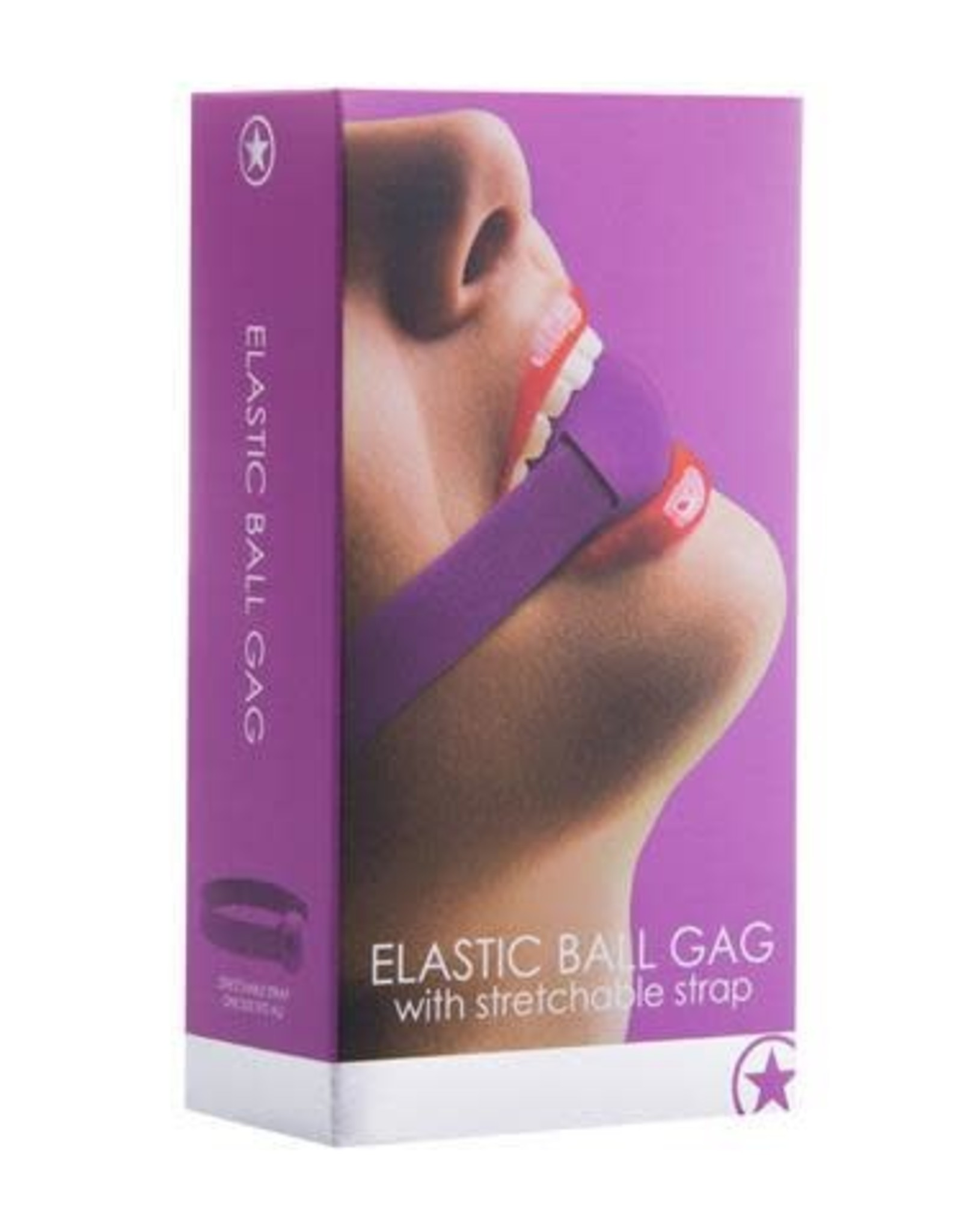 Ouch! - Elastic Ball Gag in Purple
