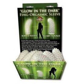 Glow-In-The-Dark Fing-Orgasmic Sleeve Assorted 1 Ct