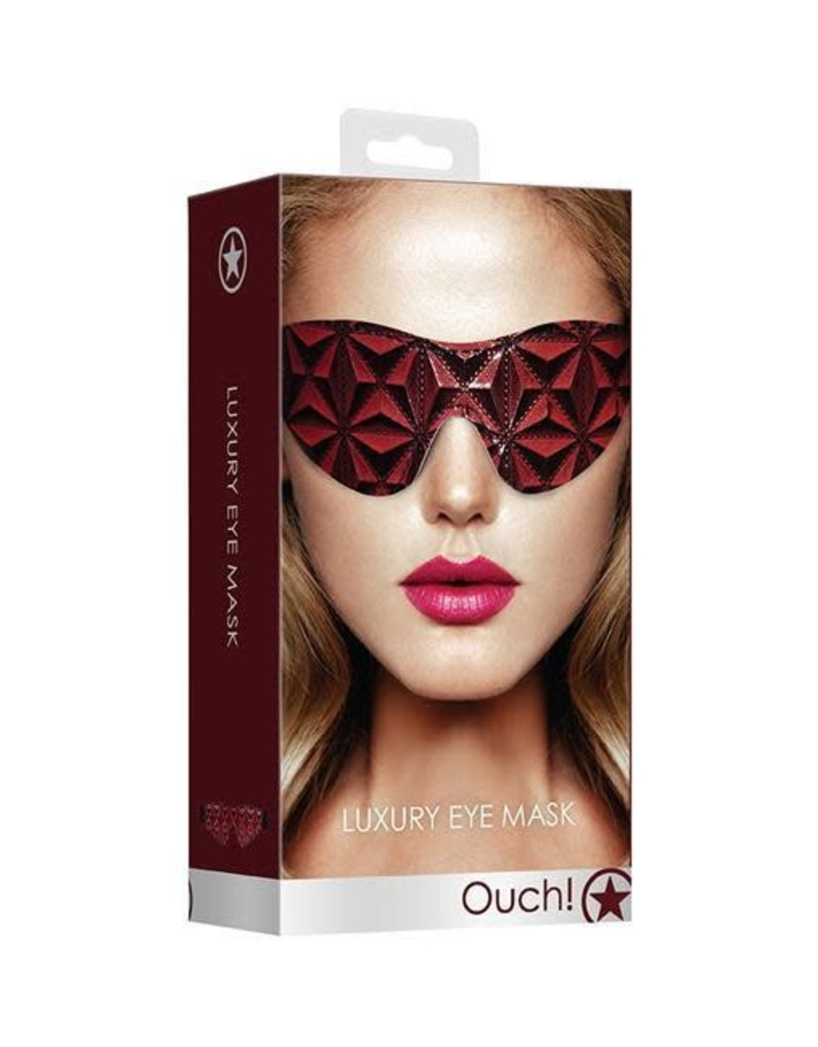 Ouch! Ouch! Luxury Eye Mask in Burgundy