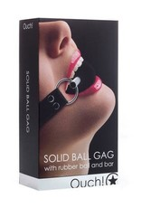 Ouch! Ouch! Solid Ball Gag in Black