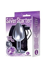 Icon Brands Silver Starter Bejeweled Stainless Steel Plug - Violet