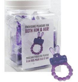 Vibrating Bunny Ring - 1 pc- Purple