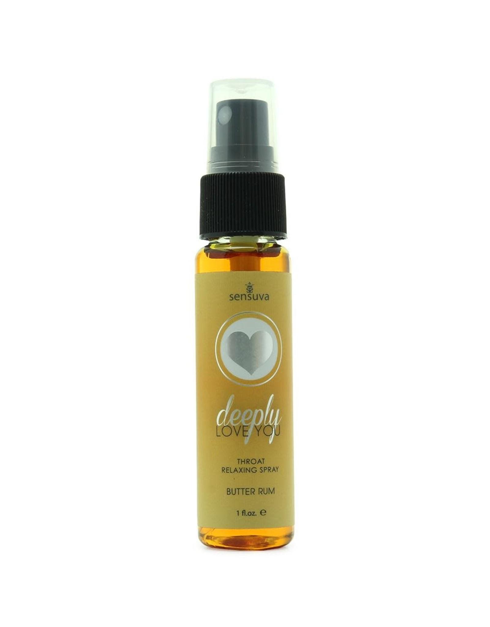 Sensuva Deeply Love You - Throat Relaxing Spray in Butter Rum - 1 oz