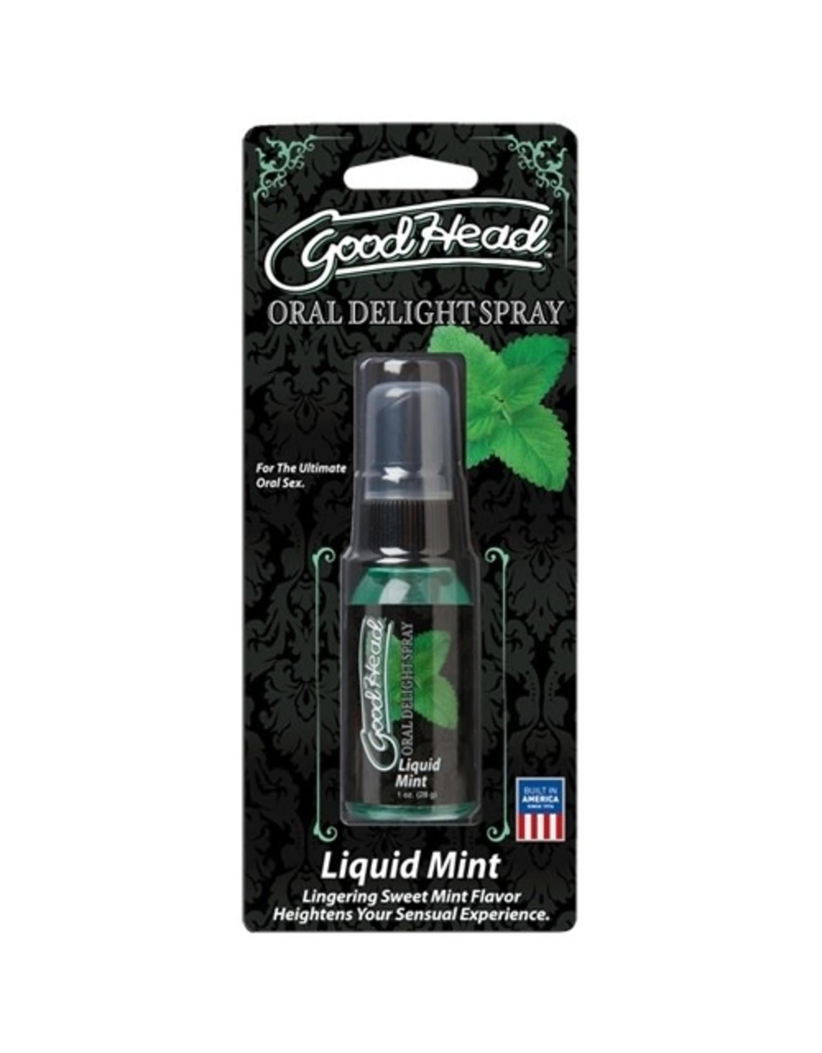 Doc Johnson Good Head - Oral Delight Spray - Liquid Mint - 1 oz
