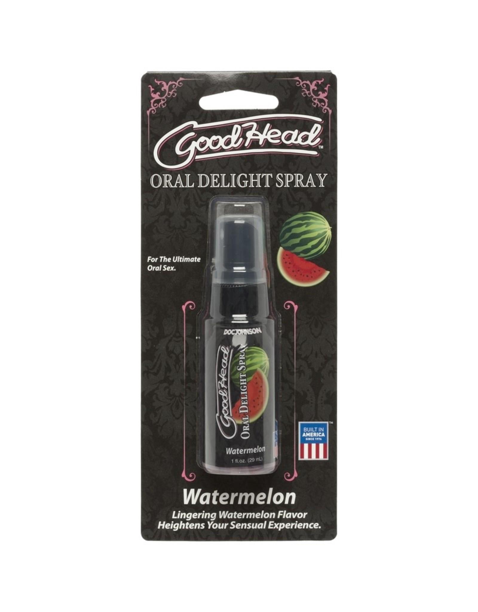 Doc Johnson Good Head - Oral Delight Spray - Watermelon - 1 oz