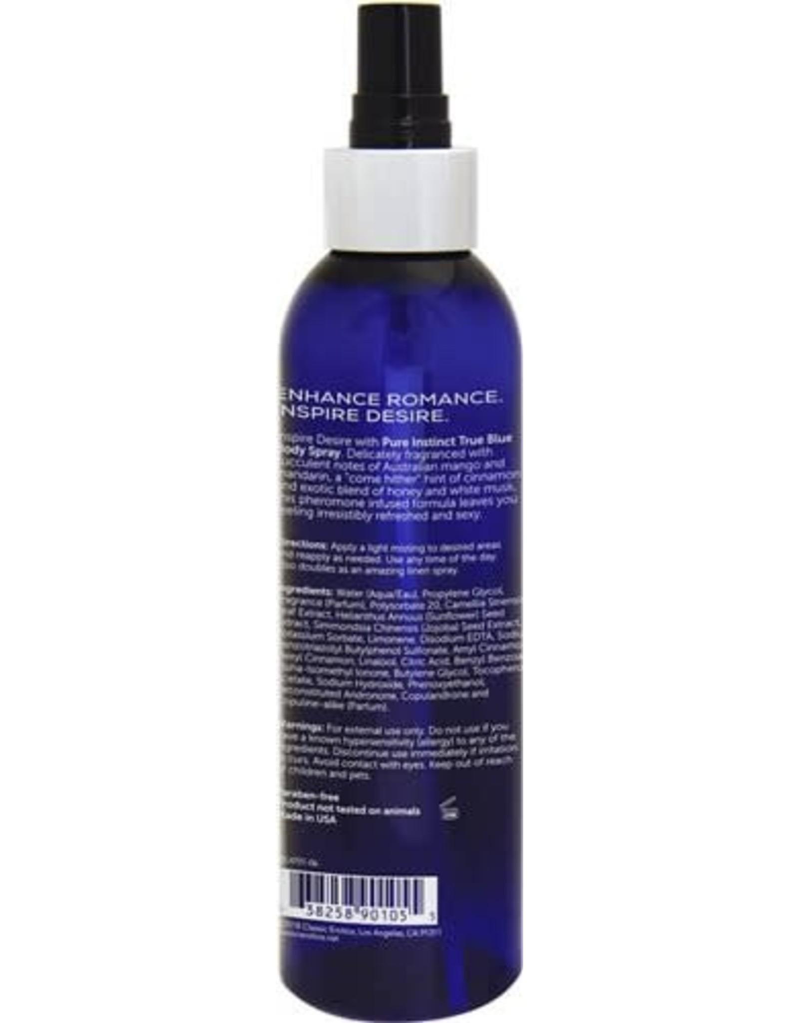 Classic Brands Pure Instinct - Sex Attractant Unisex Body Spray True Blue - 6oz