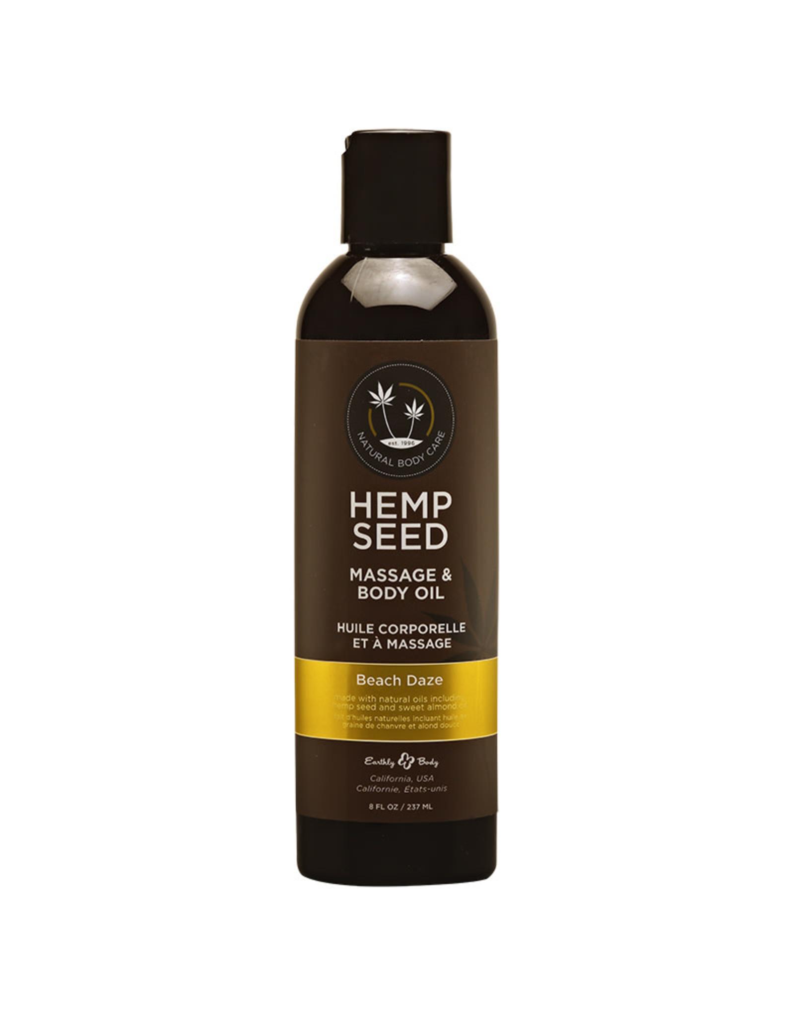 Earthly Body Earthly Body - Hemp Massage Oil - Beach Daze  - 8 oz