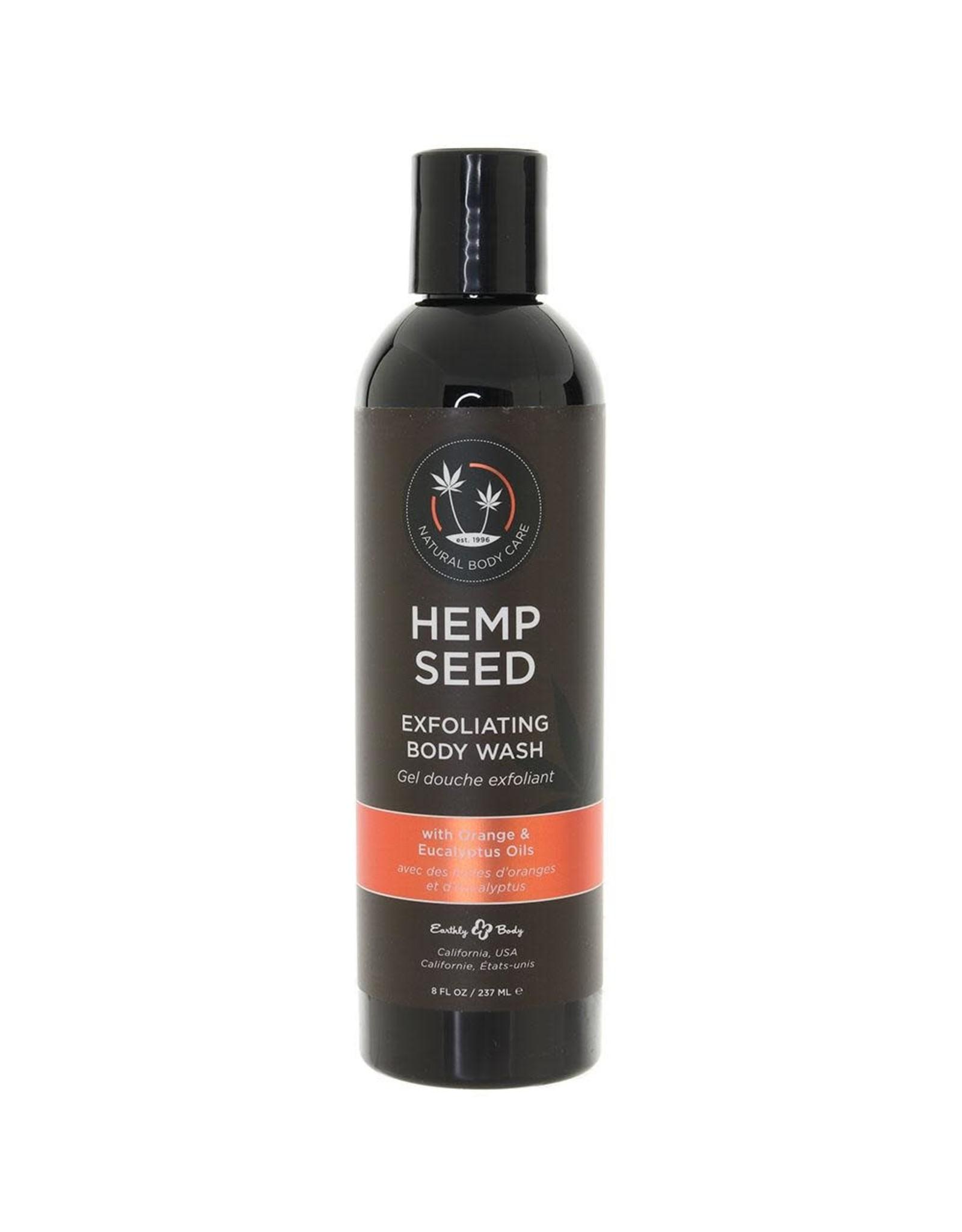 Earthly Body Earthly Body - Hemp Seed Exfoliating Body Wash  w/ Orange Eucalyptus - 8 oz
