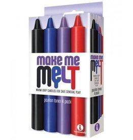 Icon Brands Make Me Melt - Sensual Warm Drip Candles - 4 pk - Passion Tones