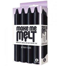Icon Brands Make Me Melt - Sensual Warm Drip Candles - 4 pk - Jet Black