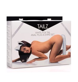 Tailz - White Fox Tail Anal Plug & Ears Set