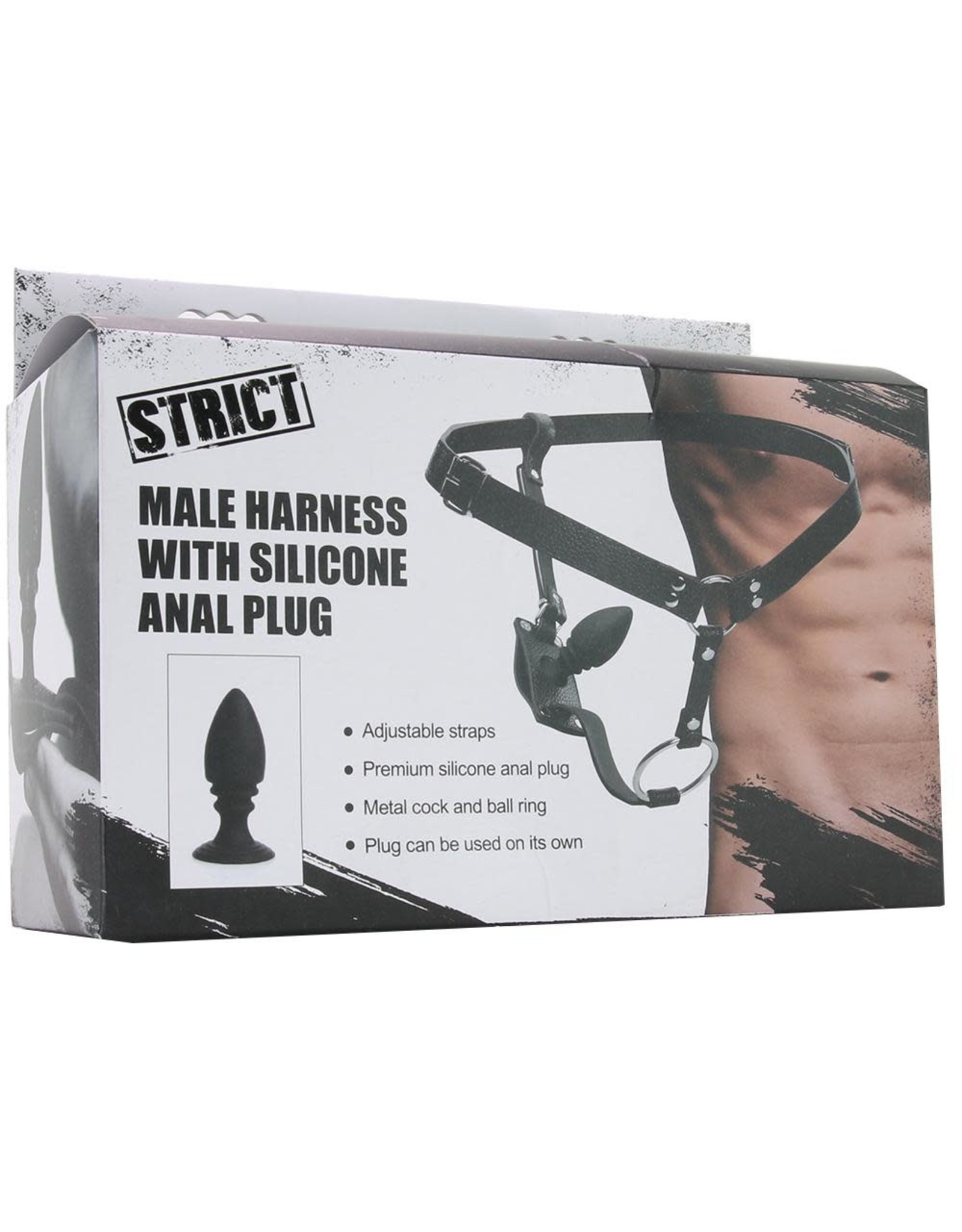 Strict - Male Harness With Silicone Anal Plug