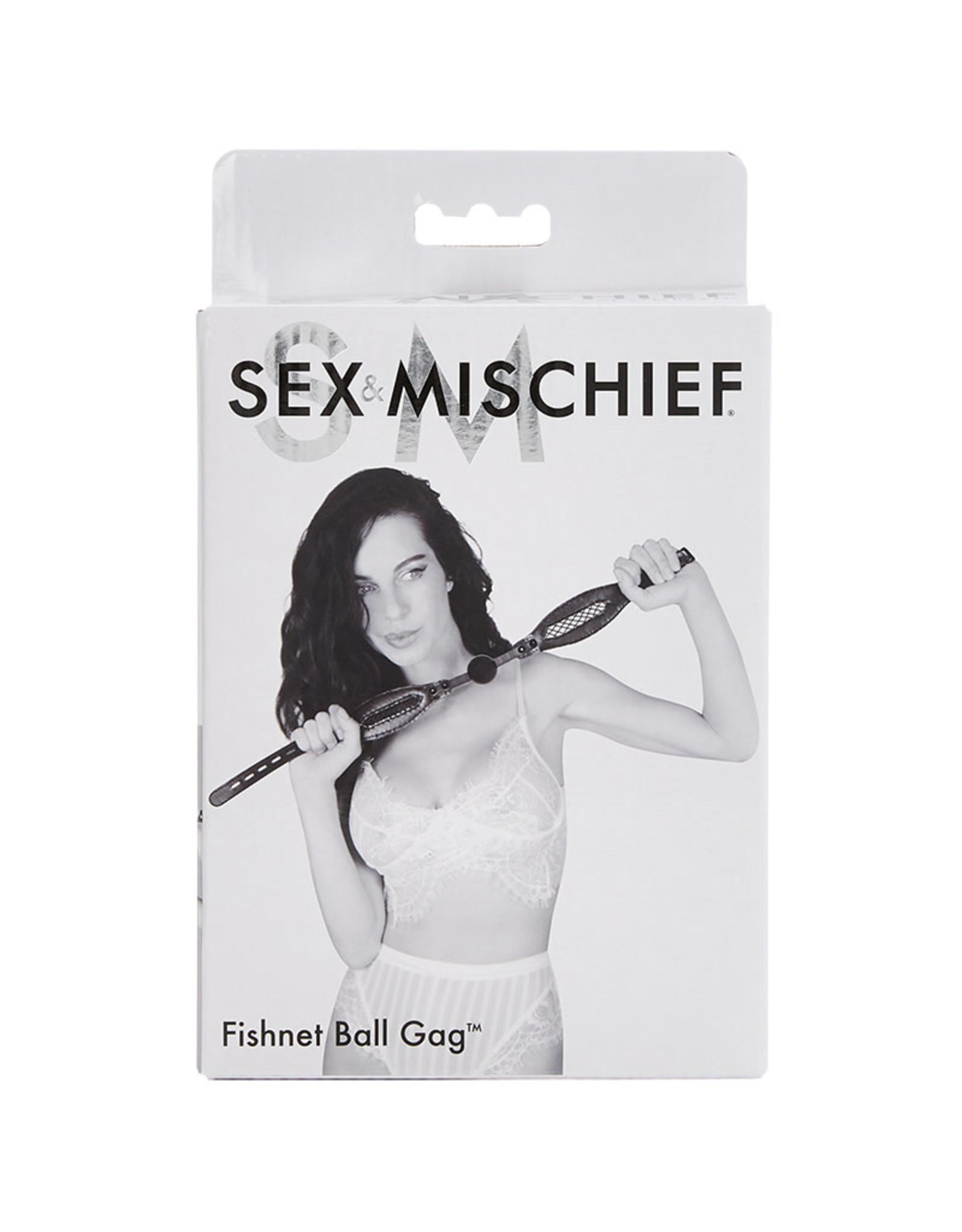Sportsheets Sex & Mischief - Fishnet Ball Gag