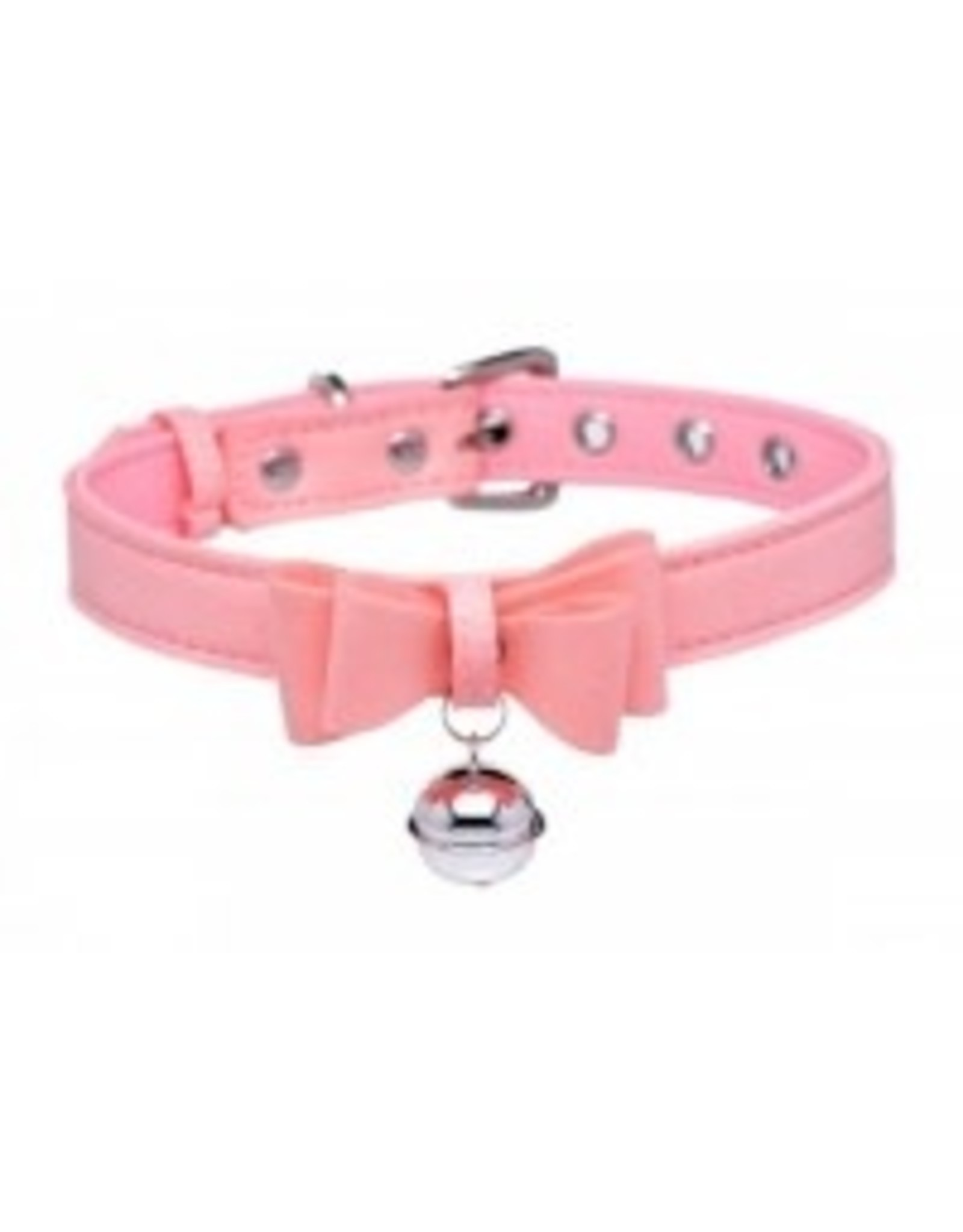 Master Series -  Kitty Collar Bell Collar - Pink