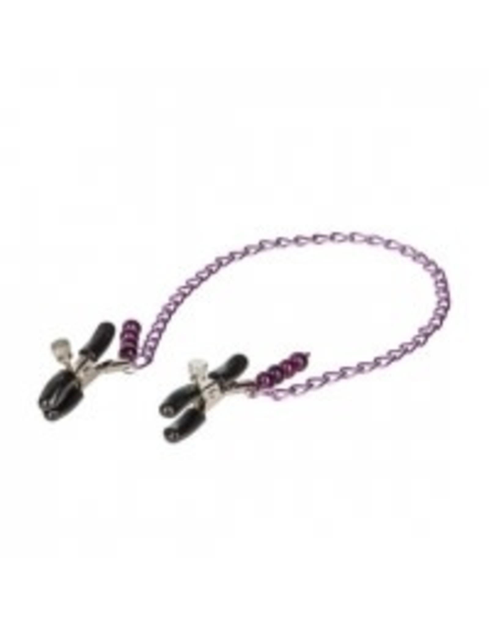 Calexotics Nipple Play - Purple Chain Nipple Clamps
