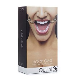 Ouch! Hook Gag w/ Leather Straps