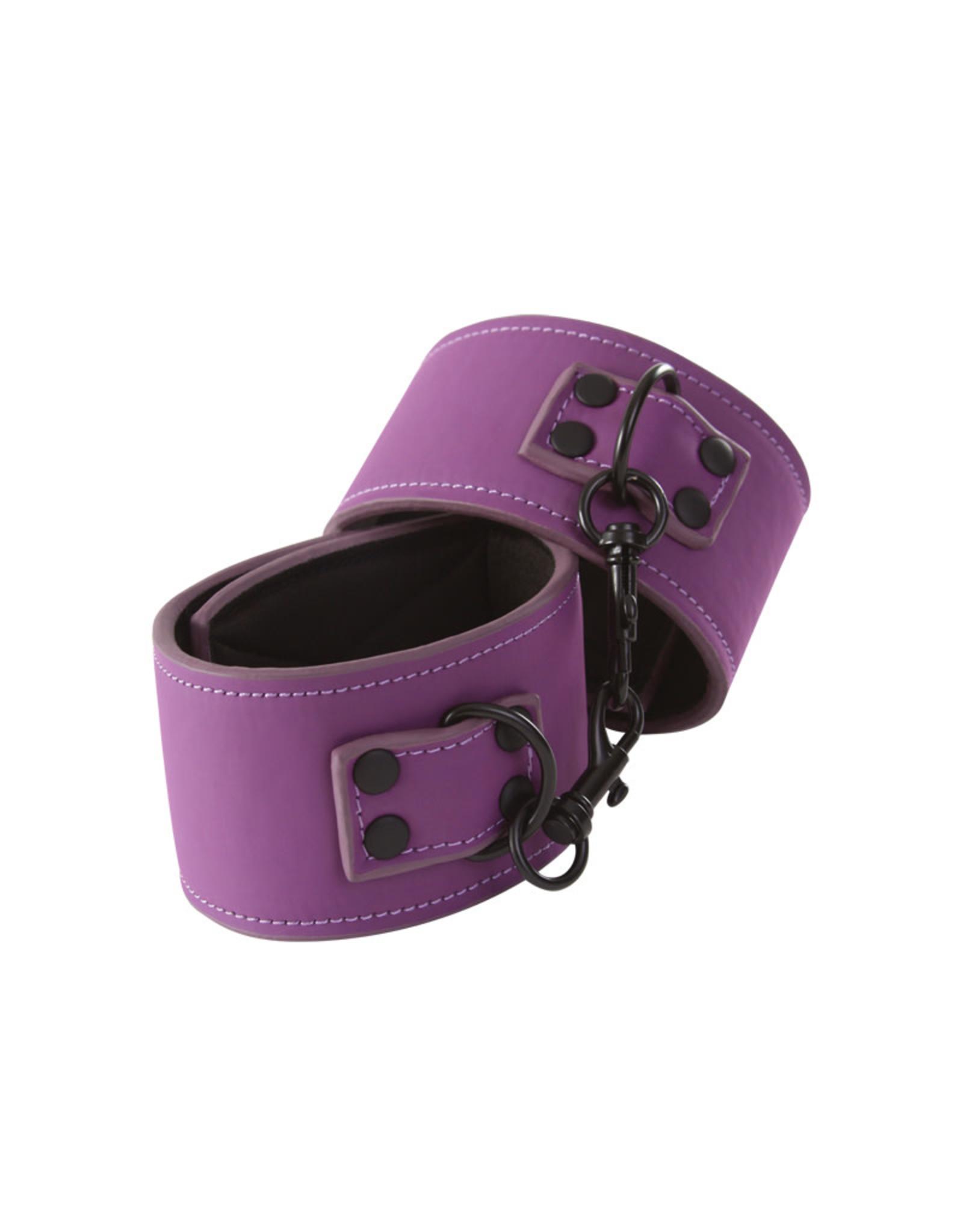 NS Novelties Lust - Bondage Wrist Cuffs - Purple