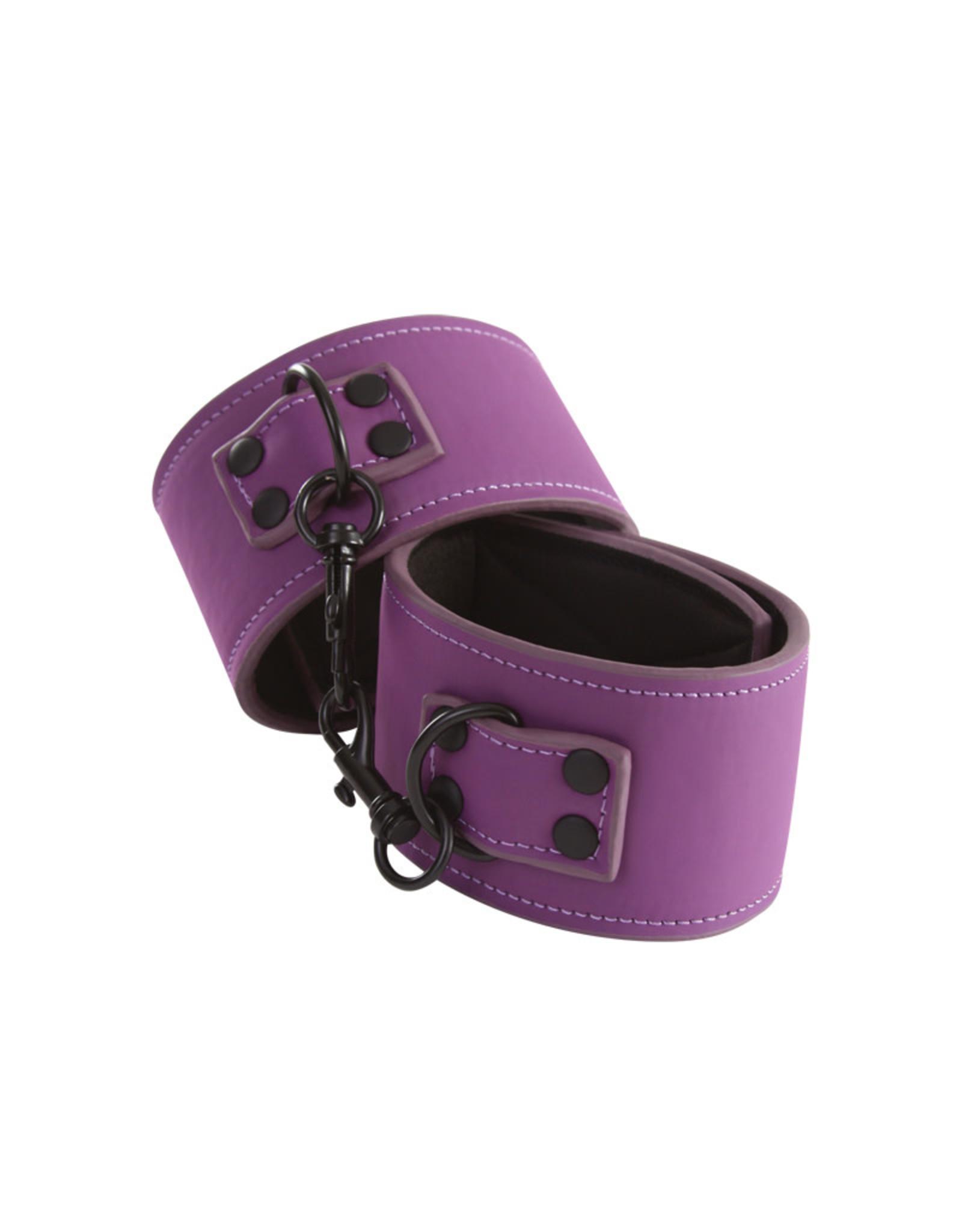 NS Novelties Lust - Bondage Ankle Cuffs - Purple