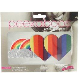 Peekaboos Pride Glitter, Rainbows & Hearts Pasties