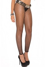 Elegant Moments Footless Fencenet Pantyhose - Black - OS