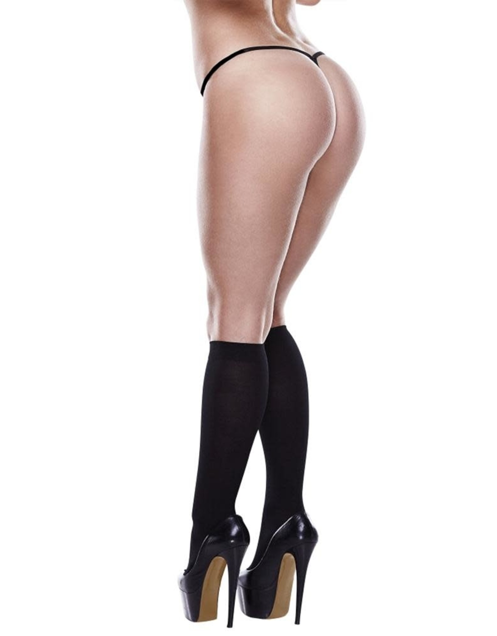 Baci Sheer Knee High - Black - OS