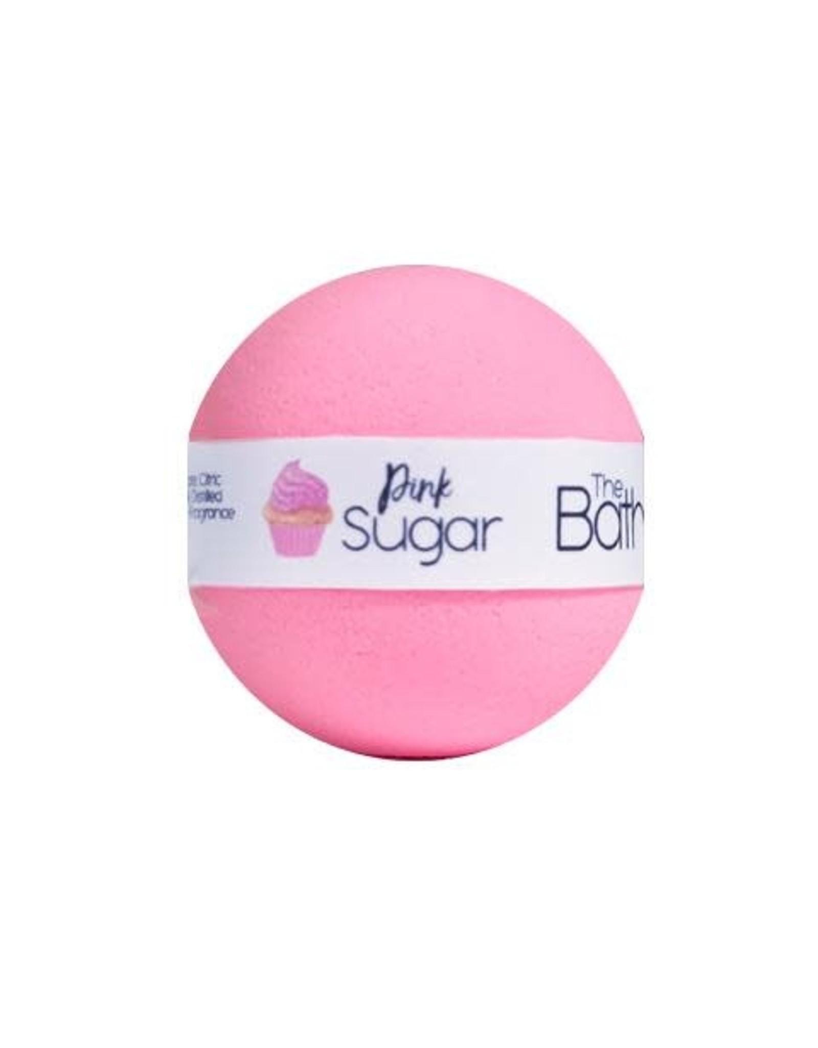 The Bath Bomb Co Bath Bomb Mini - Pink Sugar - 95g - Strawberry, Cotton Candy & Vanilla