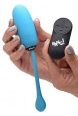 XR Brands Bang! Remote Control 28X Silicone Plush Egg - Blue