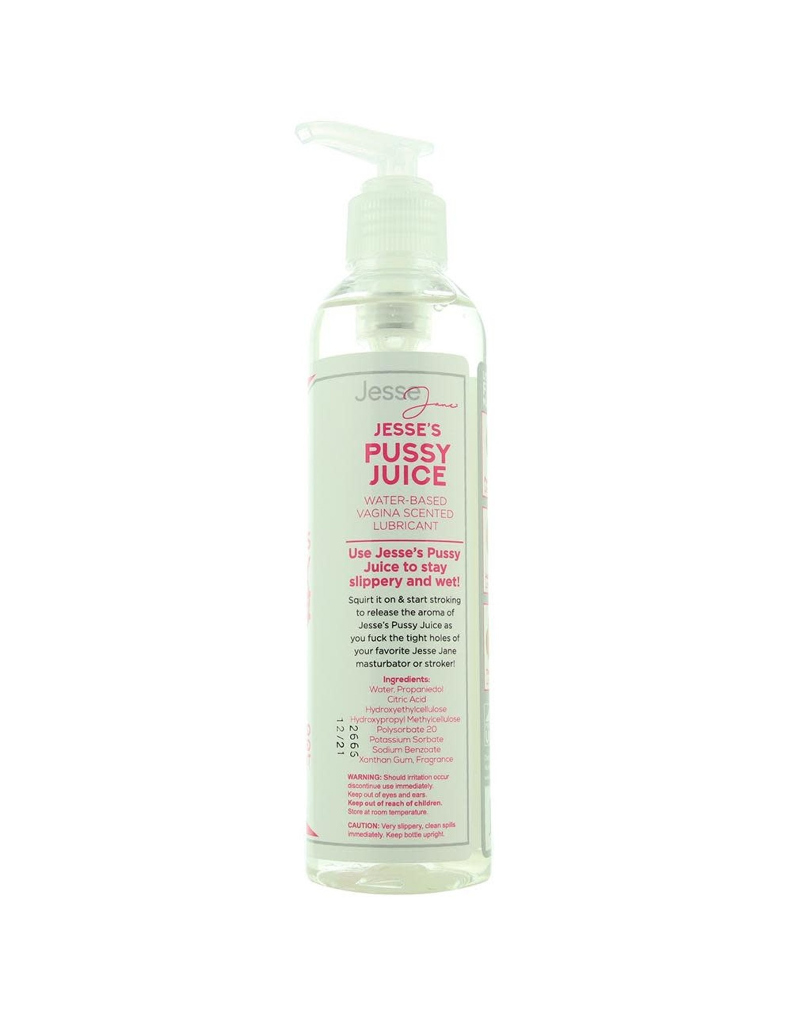 XR Brands Jesse's Pussy Juice - Water Based Vagina Scented Lubricant -  8 oz