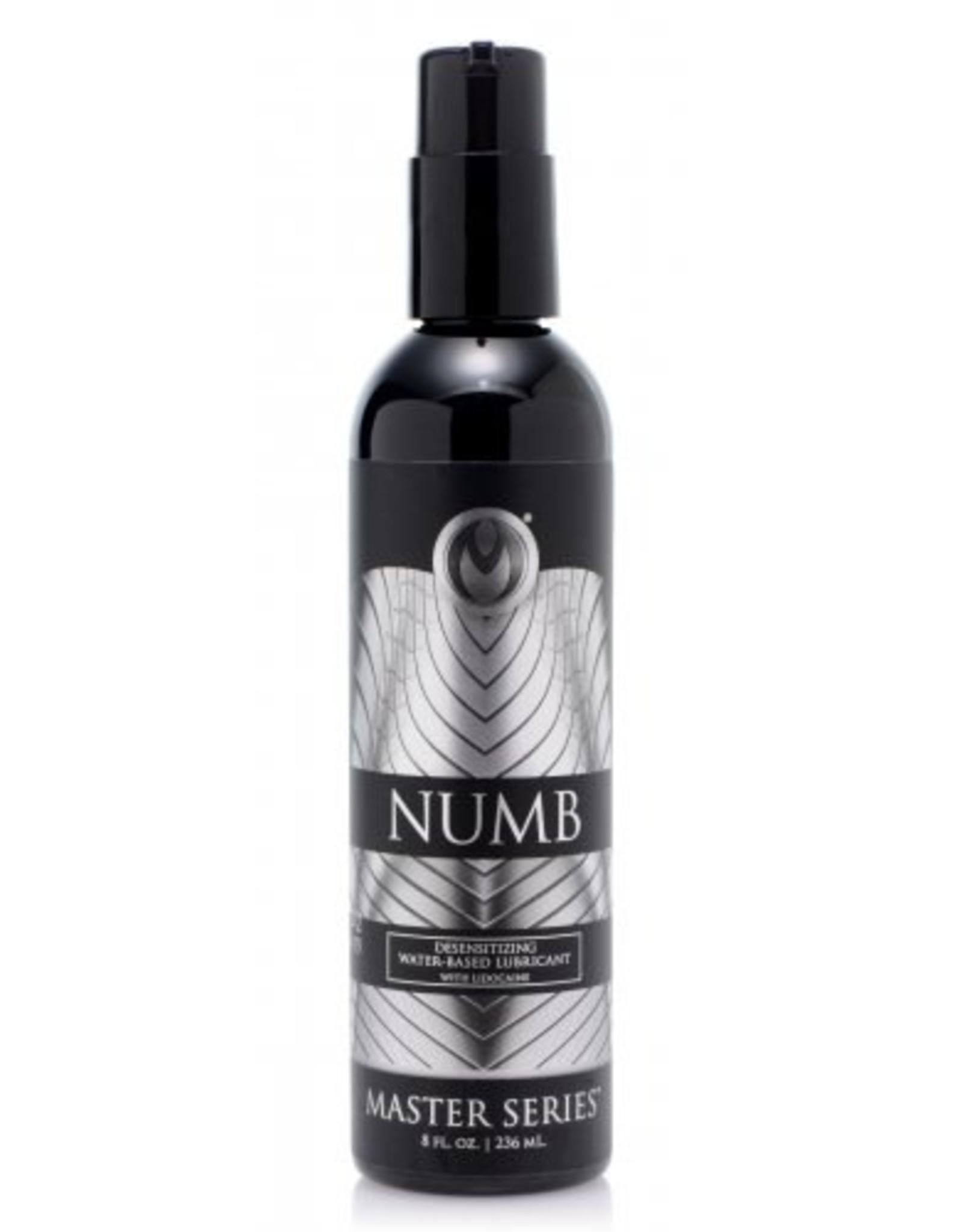 Master Series - Numb Desensitizing Water -Based Lubricant w/ Lidocaine - 8 oz