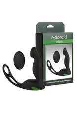 Adore U Adore U Hom - Vibrating Prostate Stimulator w/ Remote &  Ring