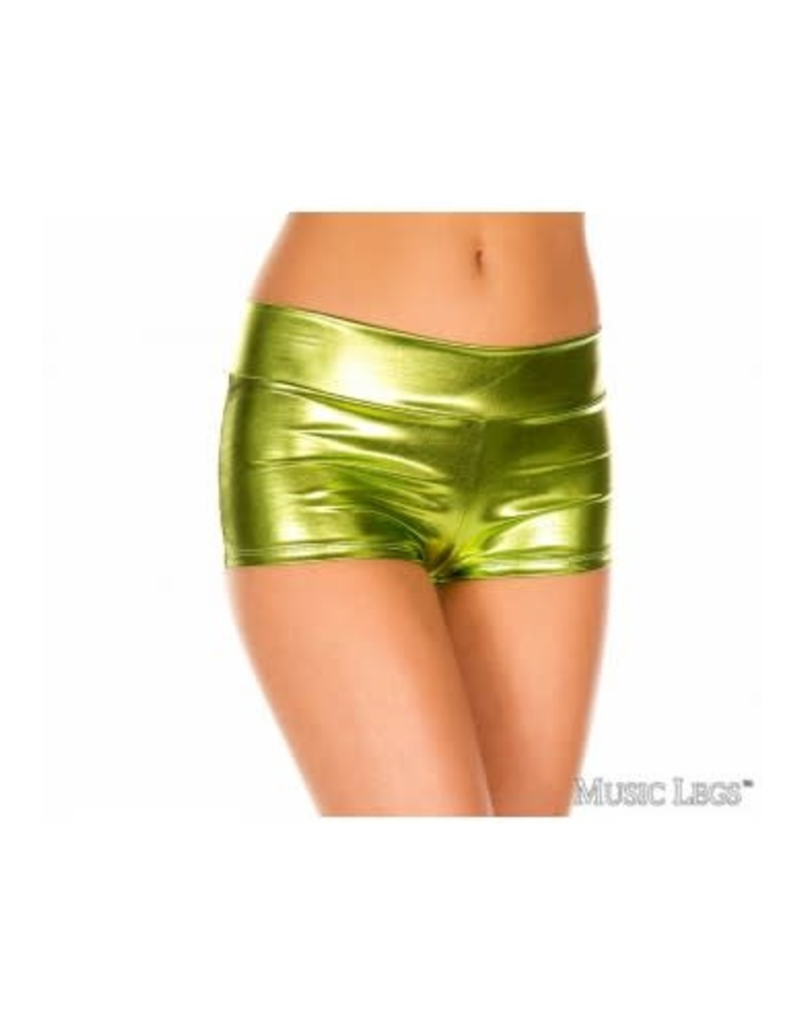 Booty Short W/ Banded Waist - Green - OS