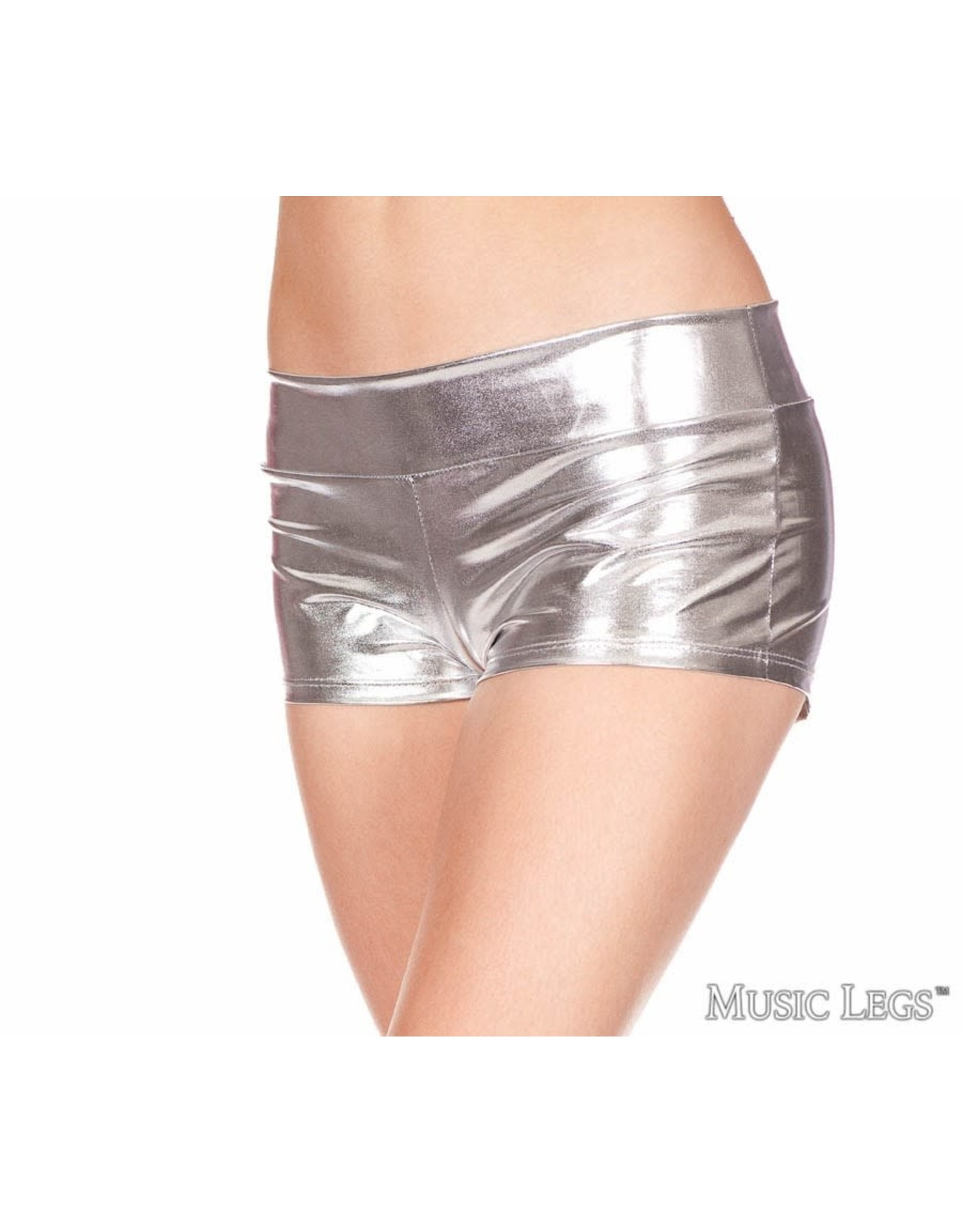 Booty Short W/ Banded Waist - Silver - OS