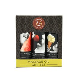 Earthly Body Earthly Body - Hemp Seed Edible Massage Oil Gift Set  (Watermelon, Vanilla, Strawberry)