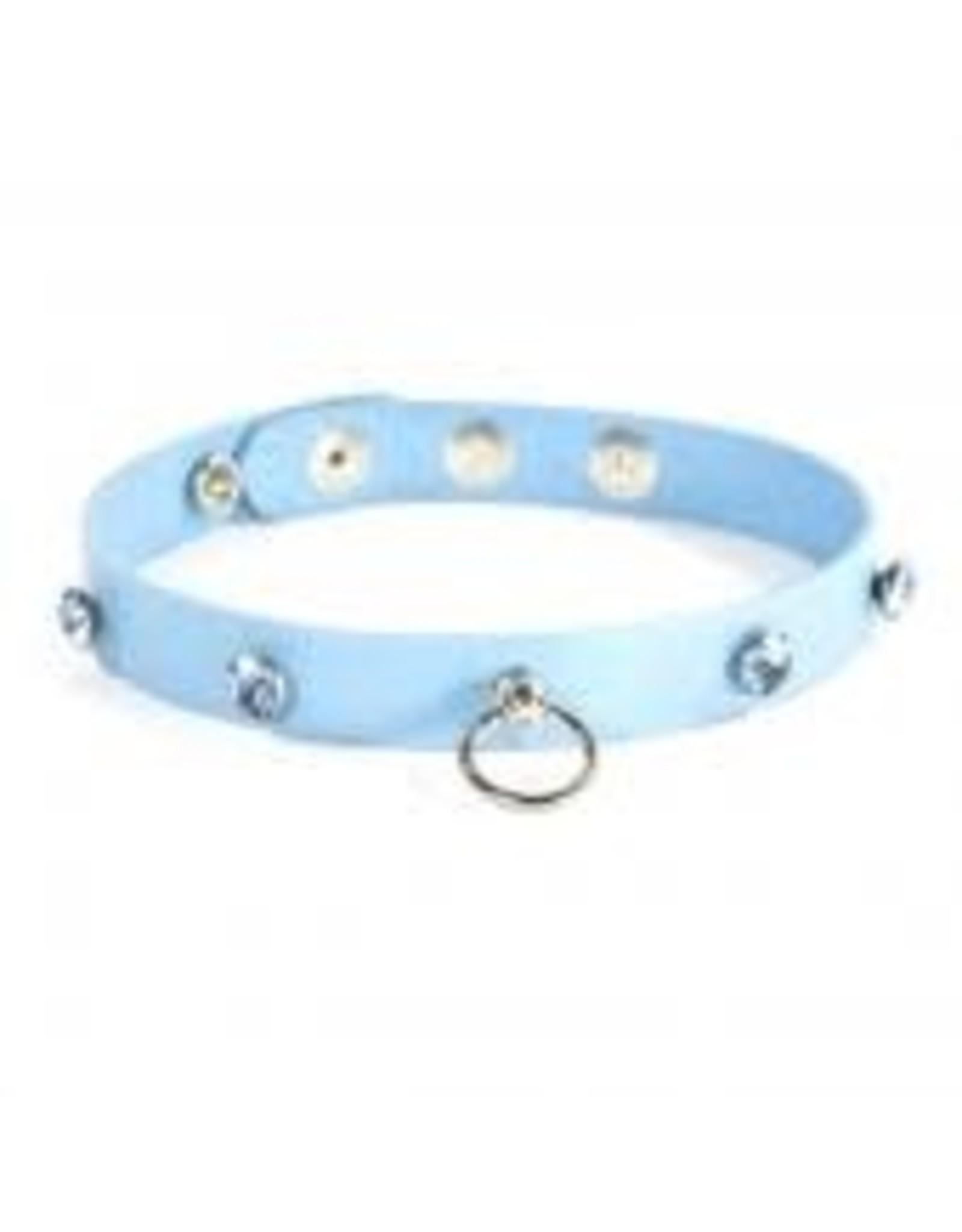 Ego Driven Ego Driven - Wicked Collar - Medium Blue/Clear Gems