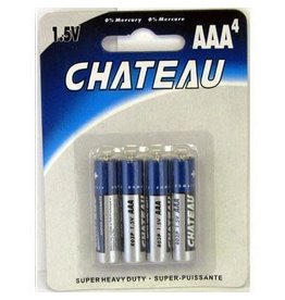 Chateau AAA - 4 Pack Batteries