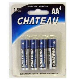 Chateau - Super Heavy Duty AA Batteries - 4 pack