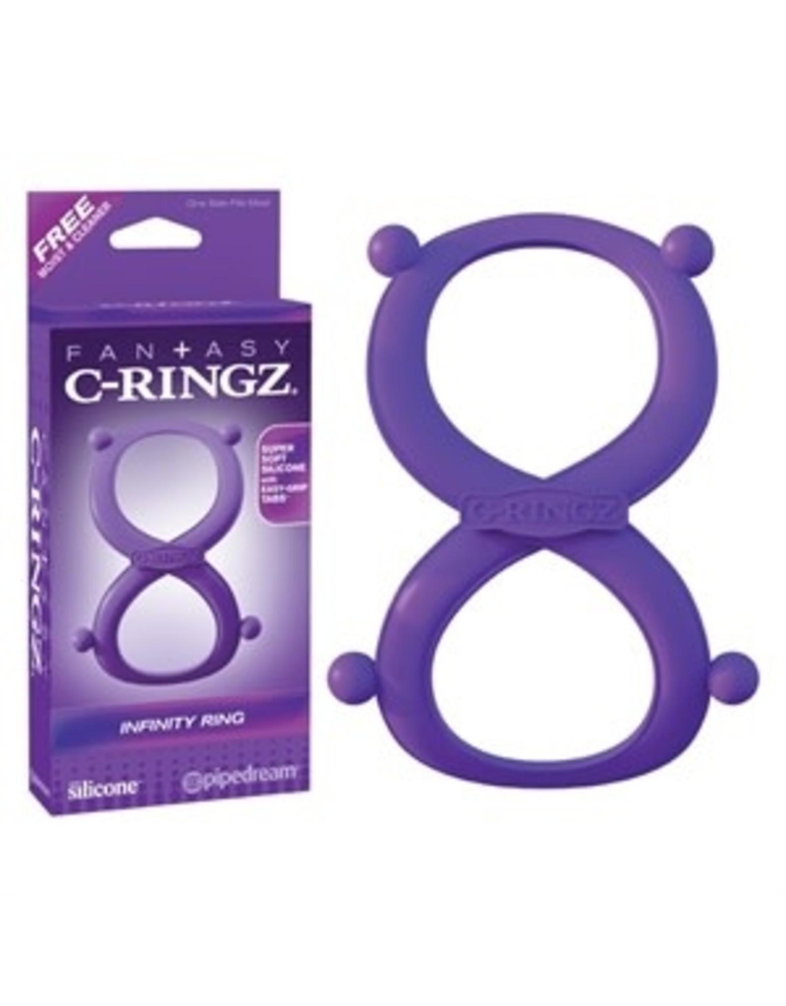 Pipedream Fantasy C-Ringz - Silicone Infinity Ring - Purple