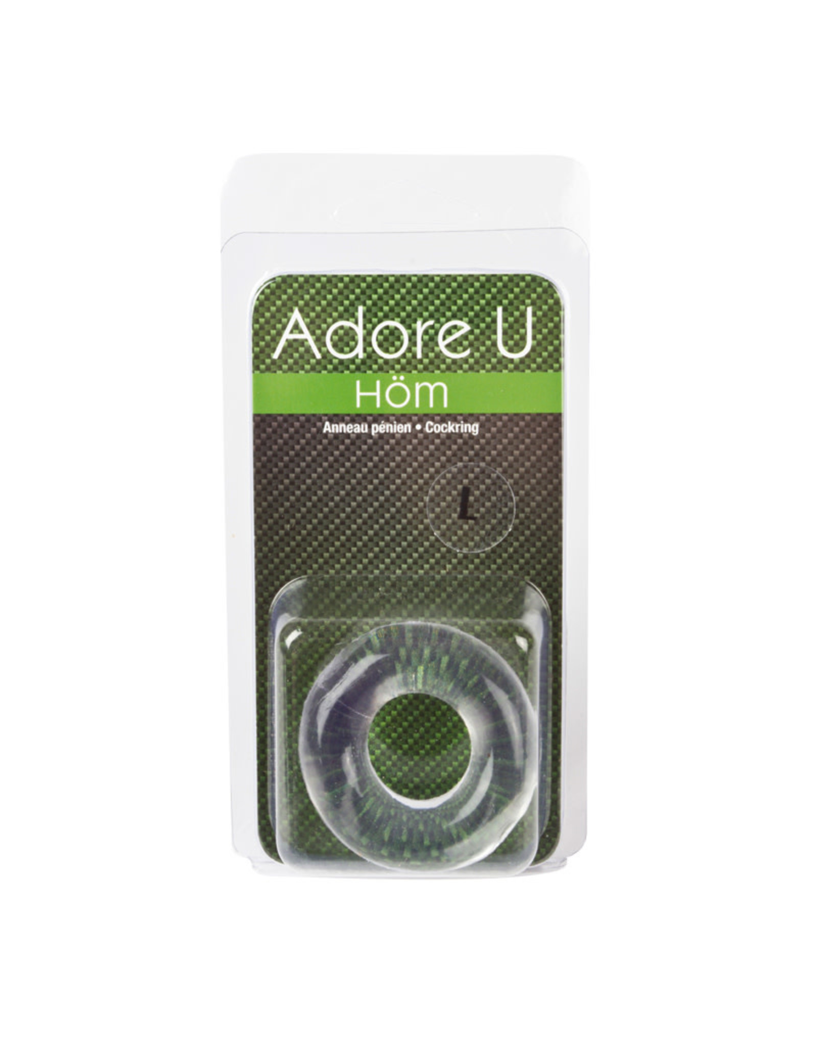 Adore U Adore U Hom - Large Cock Ring (clear)
