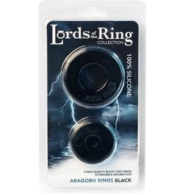 Lords of the Ring - Aragorn Rings (black)