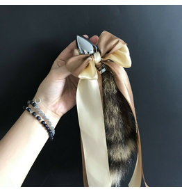 Racoon Tail with Small Metal Plug (natural)