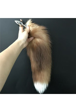 Fox Tail with Small Metal Plug (blonde)