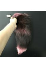 Fox Tail with Small Metal Plug (pink)