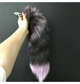 Fox Tail with Small Metal Plug (purple)