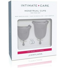 Intimate + Care Menstrual Cups Two Piece Set Clear Jimmy Jane