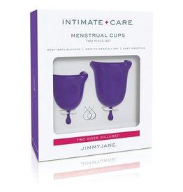 Intimate + Care Menstrual Cups Two Piece Set Purple Jimmy Jane