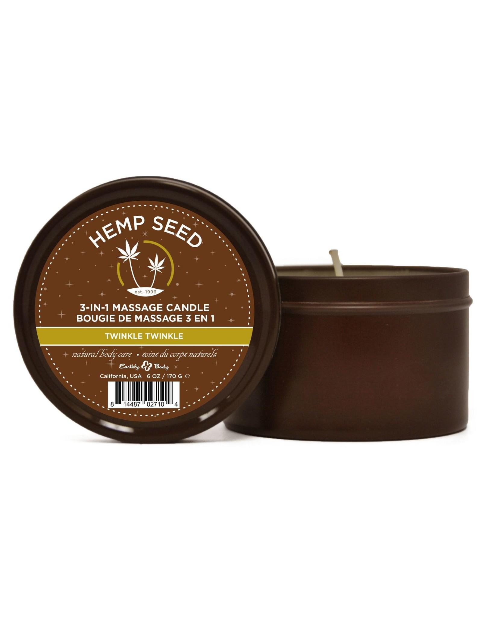 Earthly Body Hemp Seed 3-in-1 Massage Candle - Twinkle Twinkle