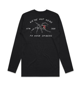 Huck The World Huck The World Tech Tee L/S Spider Black