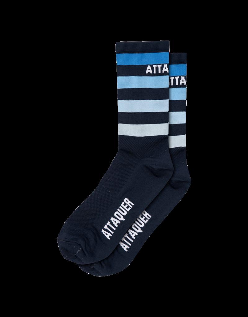 Attaquer Attaquer Socks Fade Stripe Navy